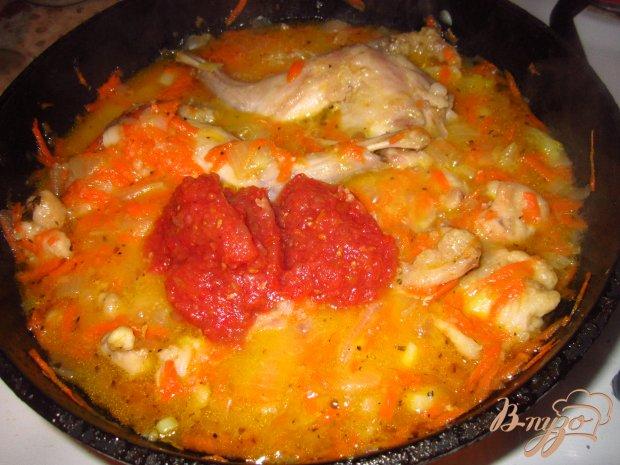 Кролик тешенный в томатном соусе