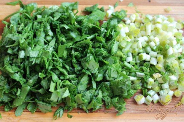 Микс салат с бужениной и сыром