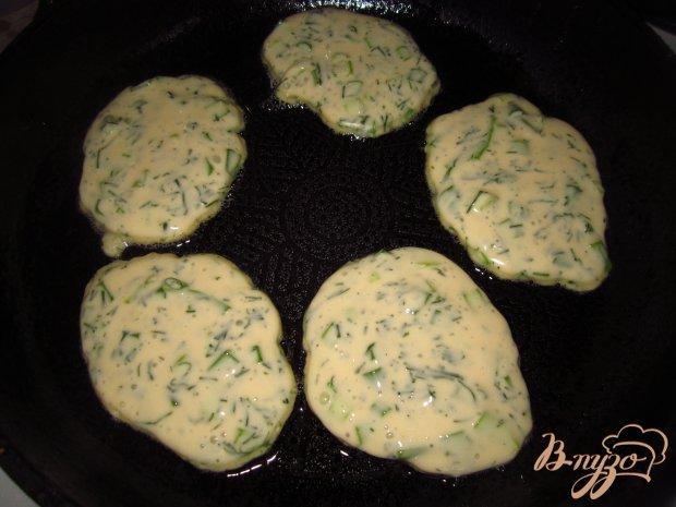 Оладьи на кефире с зеленью