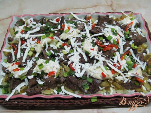 Салат из печени