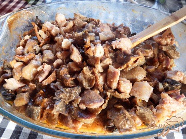 Тушеная свинина с грибами