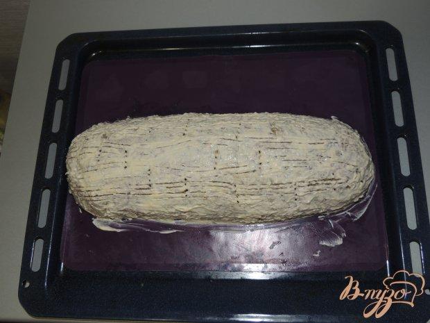 Мясной рулет с рисом и грибами