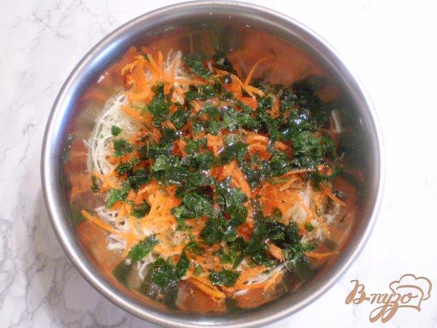 Овощной салат с рисовым уксусом