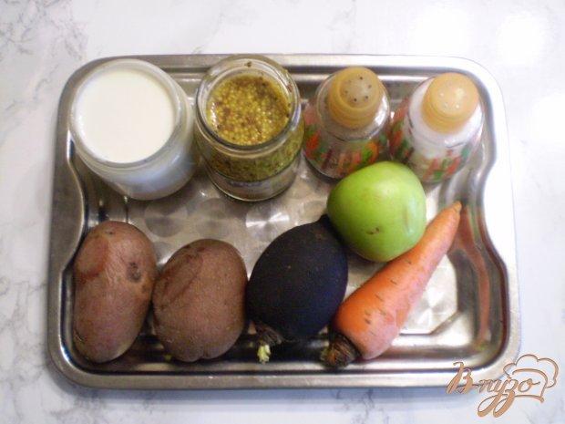 Рецепт Салат овощной с черной редькой