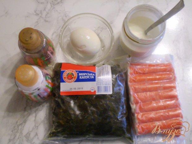 Рецепт Салат с крабовыми палочками из капусты морской