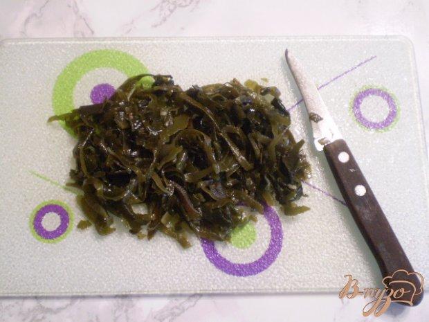 Салат из ламинарии с горошком