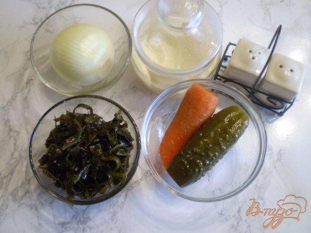 Рецепт Морской салат с морковью и огурцом