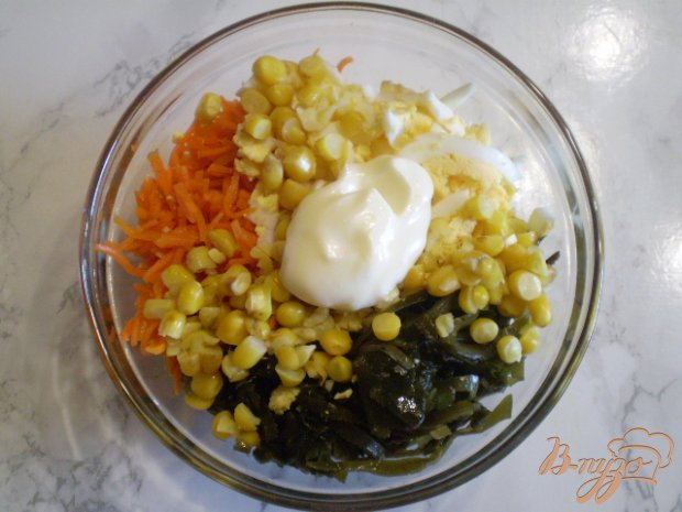 Салат морской с корейской морковью