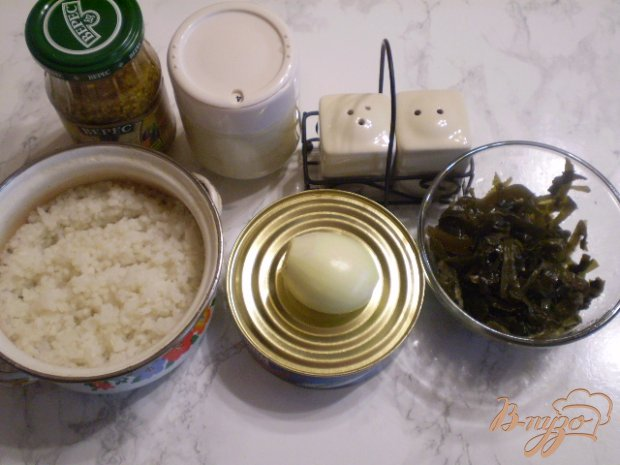 Рецепт Салат рыбный с рисом