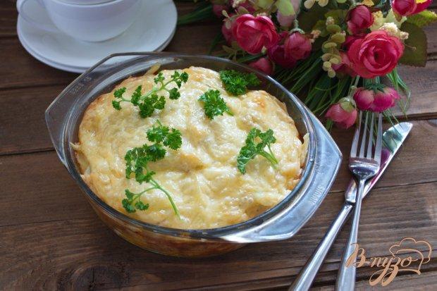 Картофельная запеканка с колбасой и сыром