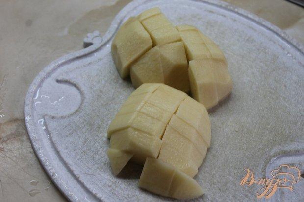 Картофель с фрикадельками запеченные под сыром