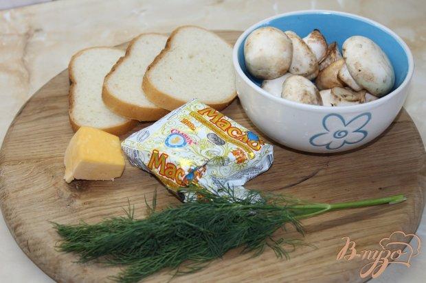 Рецепт Чесночные бутерброды с грибами и сыром