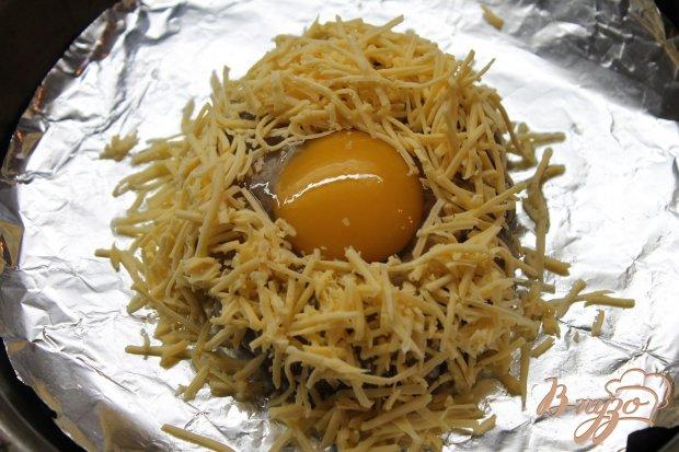 Котлета с яйцом и сыром