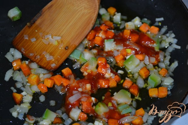 Скумбрия фаршированная рисом с овощами