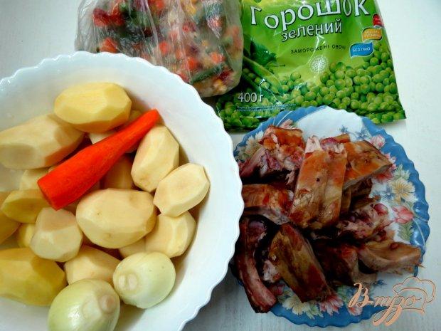 Рецепт Картофель с копчёностями