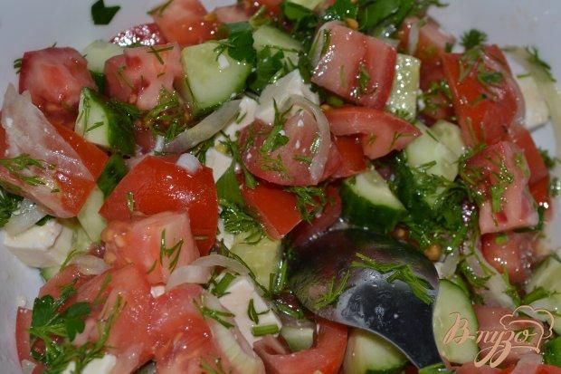 Весенний салат с плавленным сыром