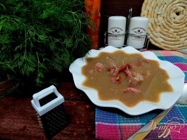Суп пюре с чечевицей и копчёностями