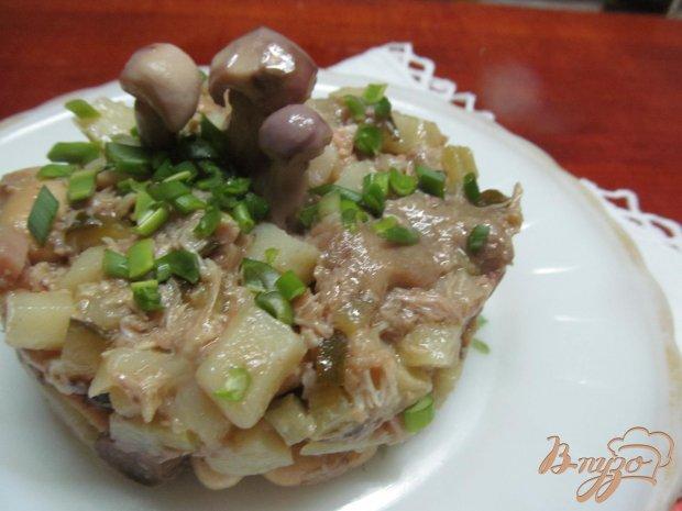 Салат с фасолью грибами без майонеза