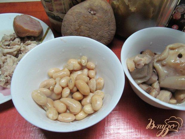 Рецепт Салат с фасолью грибами без майонеза