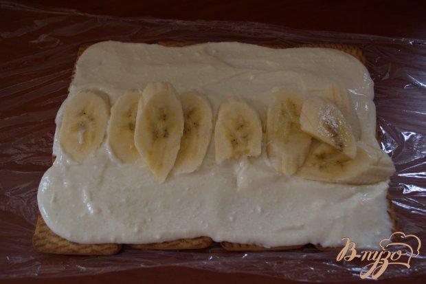 Тортик из печенья с бананом