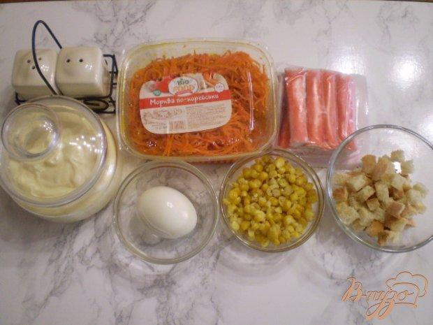 Рецепт Салат к морковью и крабовыми палочками