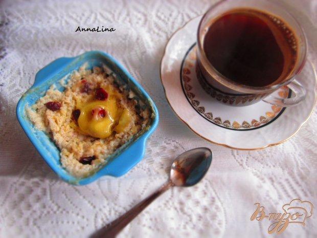 Холодный завтрак из овсянки и клюквы