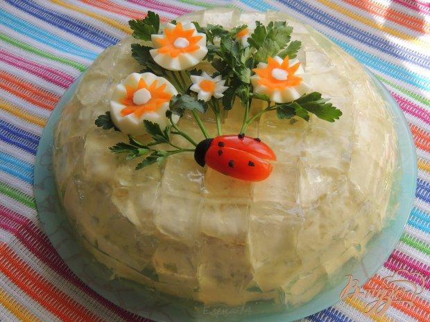 Хрустальный салат с курицей