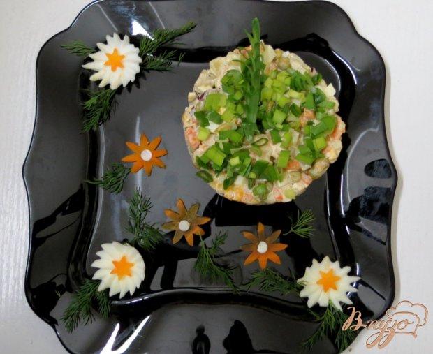 Мясной салат с куриным филе