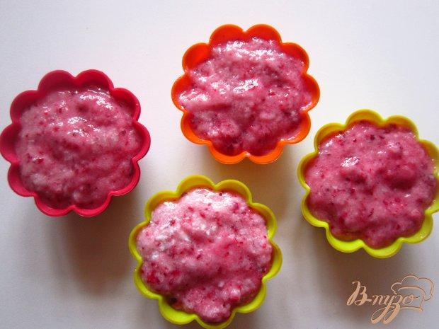 Десерт из кефира и вишни