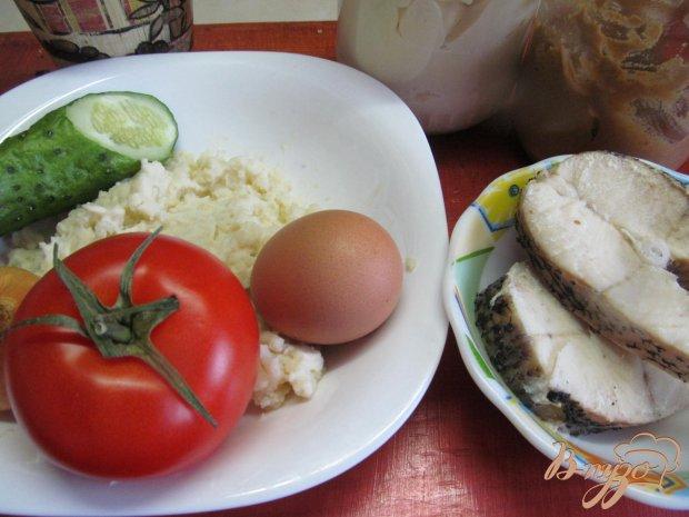 Салат из отваренной щуки