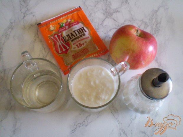 Кефирно-яблочное желе