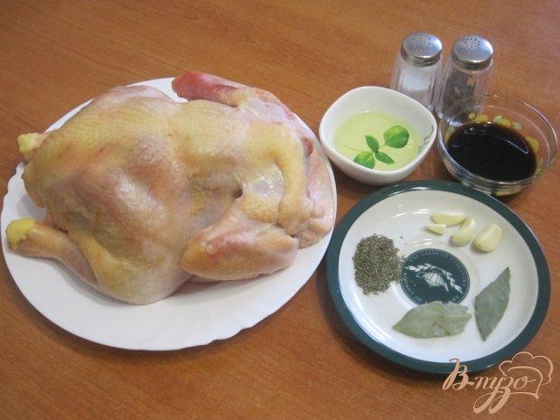 Запеченная курица с соевым соусом
