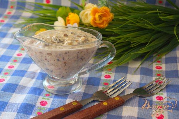 Соус -дипс из грибов и сыра