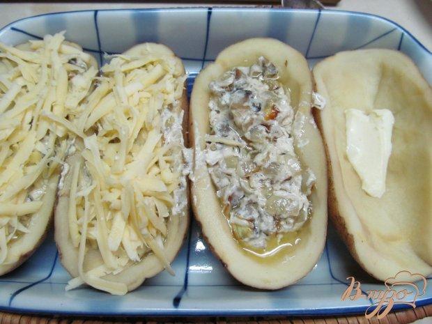 Картофельные лодочки с шампиньонами