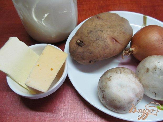 Рецепт Картофельные лодочки с шампиньонами