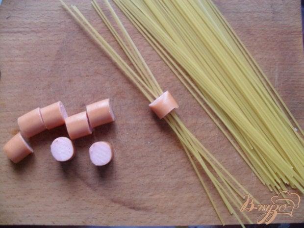 Рецепт Спагетти с сосиской