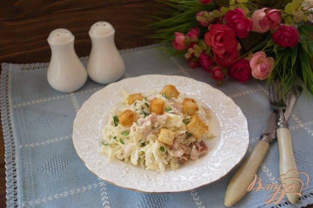 Легкий салатик с копченой курицей