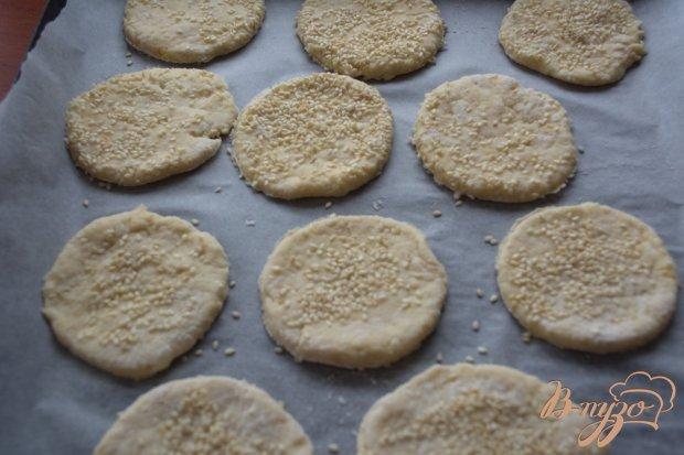Печенье на сметане, с посыпкой кунжута