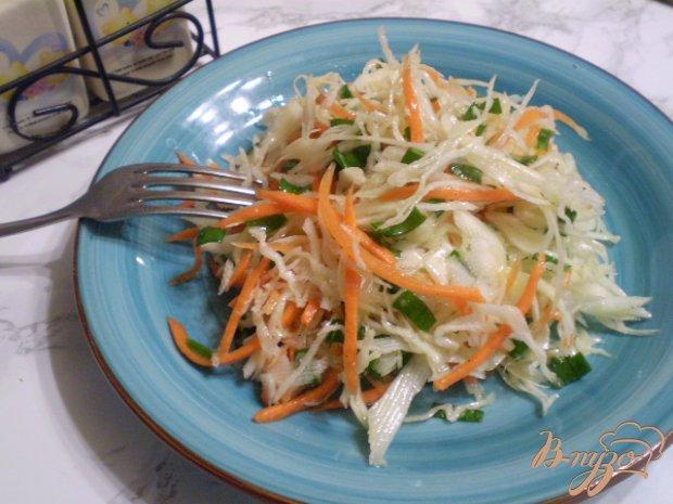 Салат с листьями чеснока
