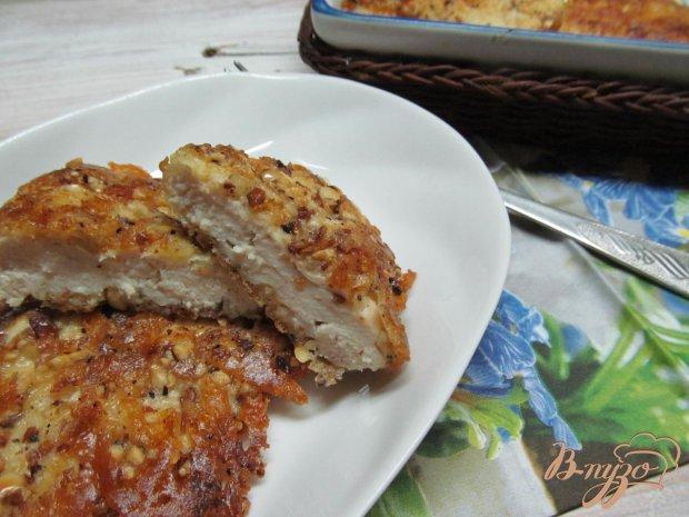 Куриные отбивные в сырно-ореховой панировке