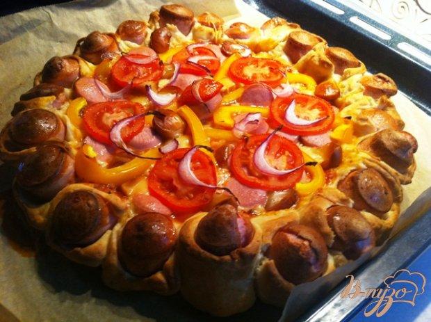 Пицца по деревенски с сосисками
