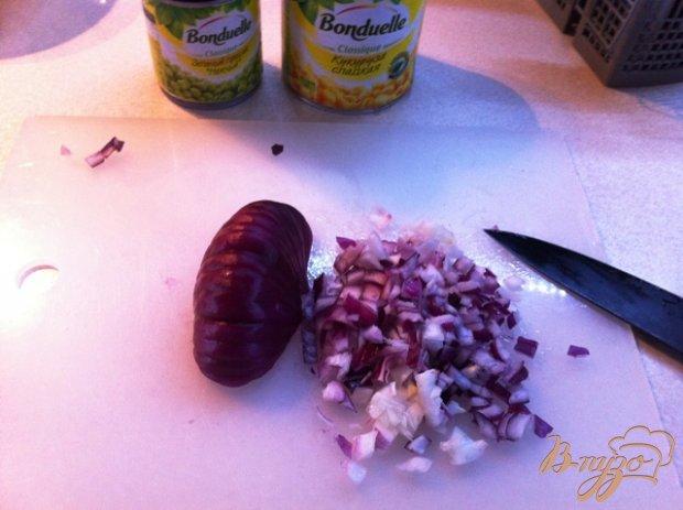 Рецепт Овощной салат с курицей.