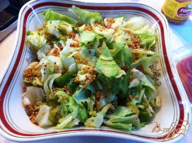 Салат с прошутто и грушей