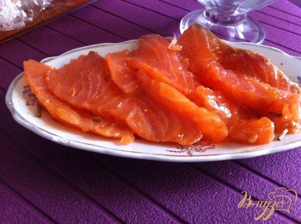 Слабосоленая лосось в апельсиновом маринаде