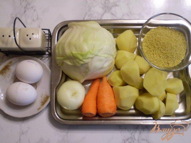 Рецепт Суп капустный с пшеном и яйцами