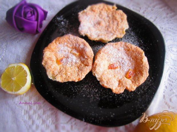 Бисквитные кексы с апельсиновыми цукатами