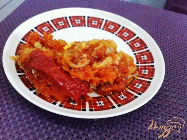 Филе хека в овощном маринаде
