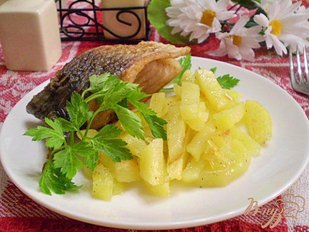 Жареная рыба с картошкой