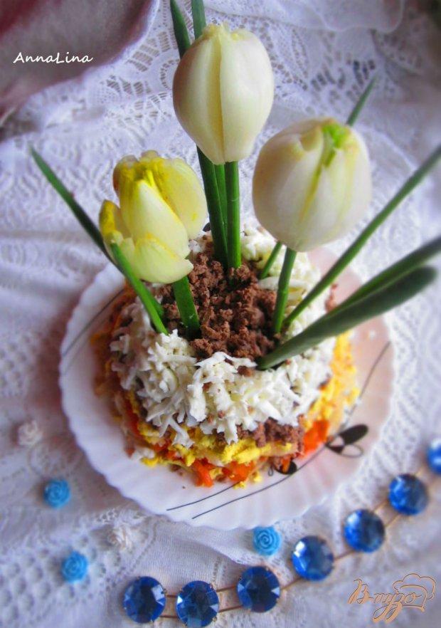 """Салат """"Первые цветы весны"""""""