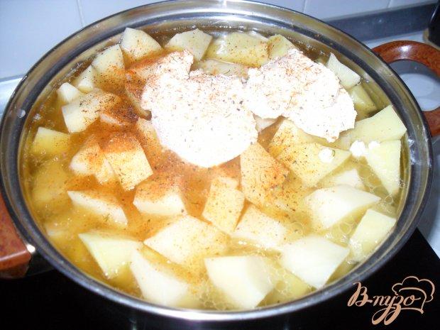 Картофель тушенный со свининой